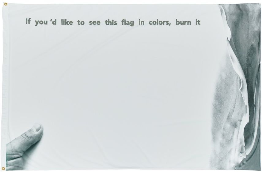 Ahmet Öğüt - If You'd Like This Flag in Colors, Burn It (In Memory of Marinus Moezem), 2017