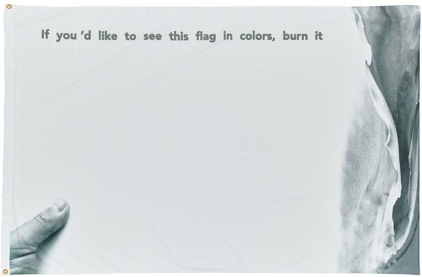 Ahmet Öğüt - If You'd Like This Flag in Colors, Burn It (In Memory of Marinus Moezem), 2017