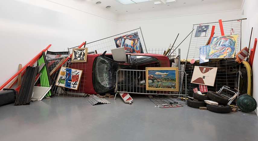 Ahmet Ogut - Bakunin's Barricade, 2015 can be described as a part of political art