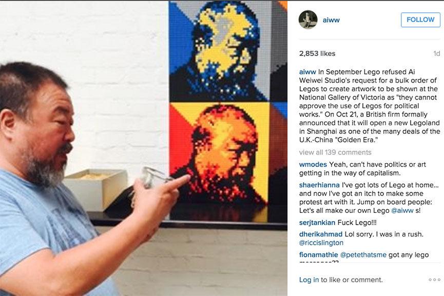 Ai Weiwei Lego