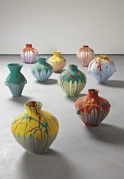 Ai Weiwei-Nine Coloured Pots-2006