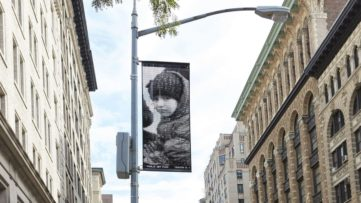 Ai Weiwei - One of the banners in New York. Photo