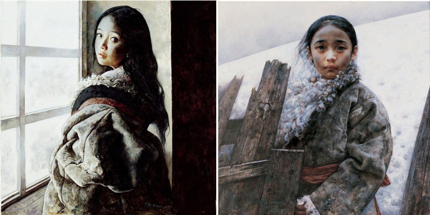 chinese artist protects his painting of a chinese girl privacy on Wastelands