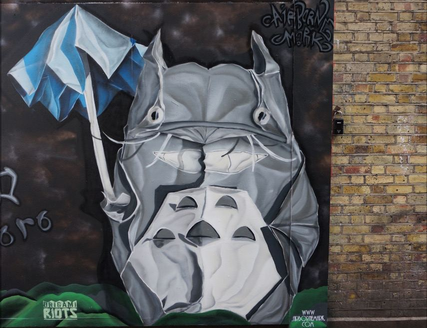 Airborne Mark - My Neighbour Totoro, London, 2016  - Image courtesy of Airborne Mike