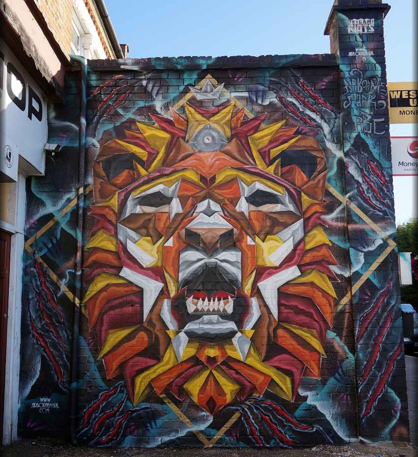 Airborne Mark - Origami Lion, Penge, London, UK, 2016, photo credits of the artist