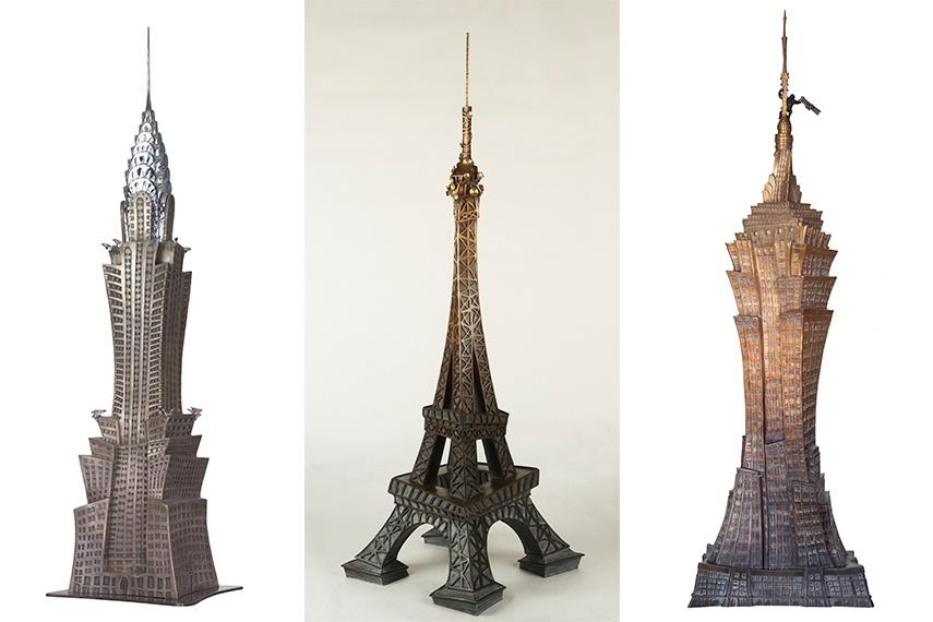 Alain Godon - Chrome Arrow, 2014 (Left) / La Dame de Fer, 2012 (Middle) / Kong, 2015 (Right)