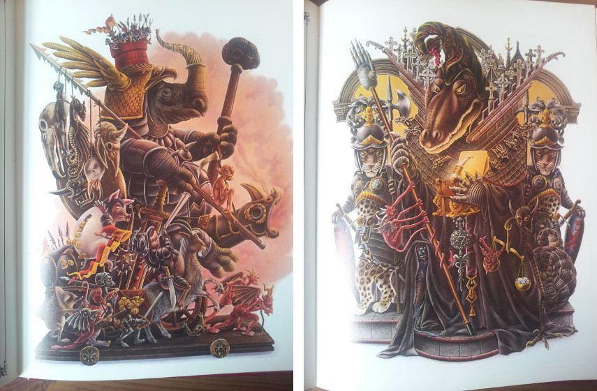 Alan Aldridge - Illustrations from The Lion's Cavalcade , 1980 - Images via madebymothereaglecom
