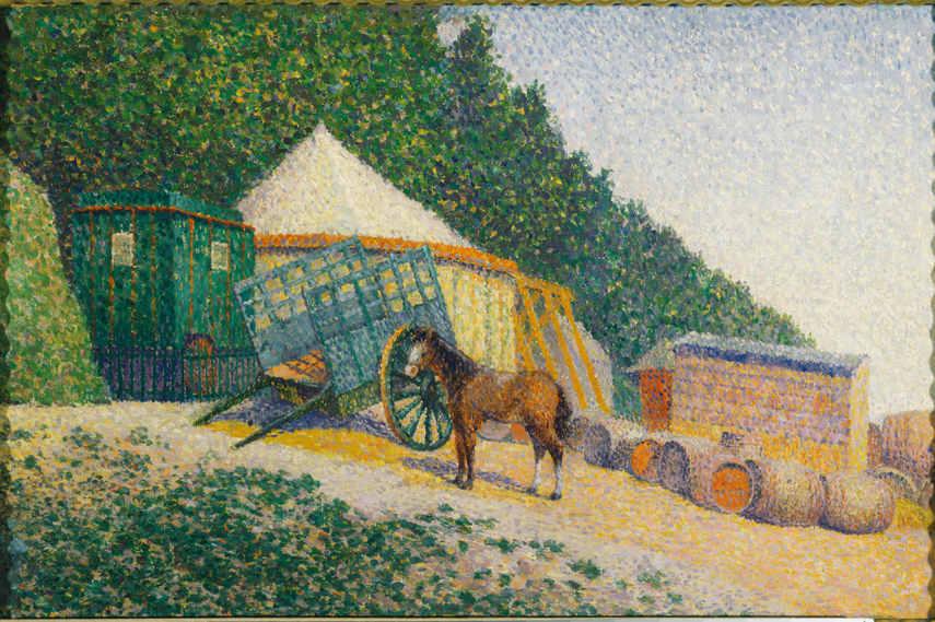 Albert Dubois-Pillet - Little Circus Camp - Image via Google Art Project neo