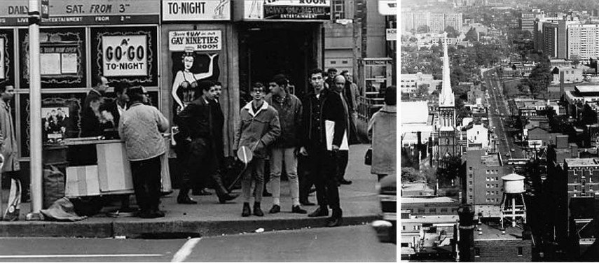 Albert Kish - Dundas and Yonge, 1965 (Left) / Looking East From City Hall, 1966 (Right)