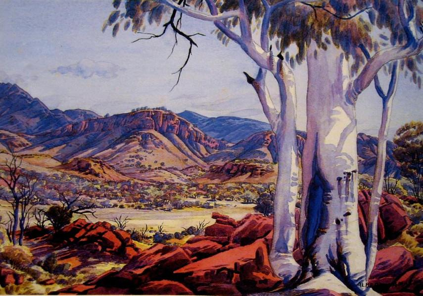 Albert Namatjira - Alice Springs Country - Photo Credits AASD - Australia - Hermannsburg people in Melbourne have mission exhibition of national watercolour pieces