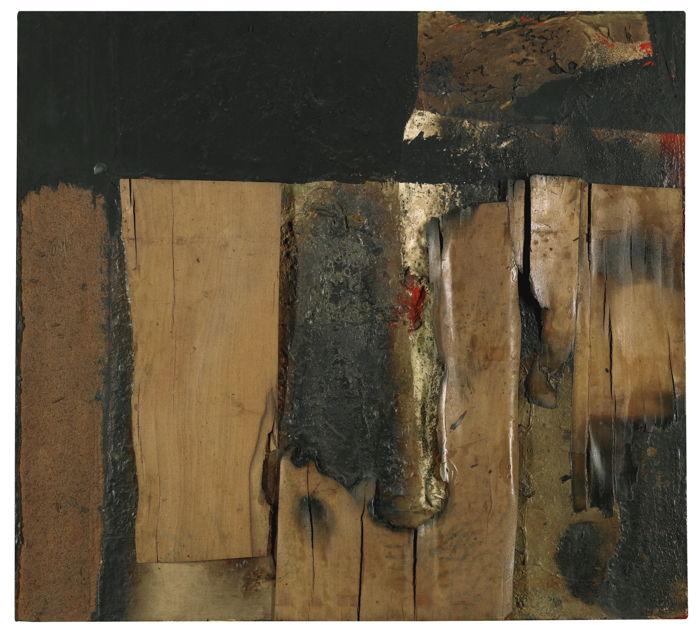 Alberto Burri-Combustione M.2-1956