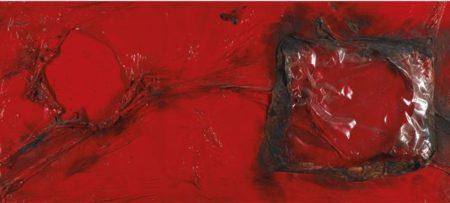 Alberto Burri-Rosso Plastica-1960