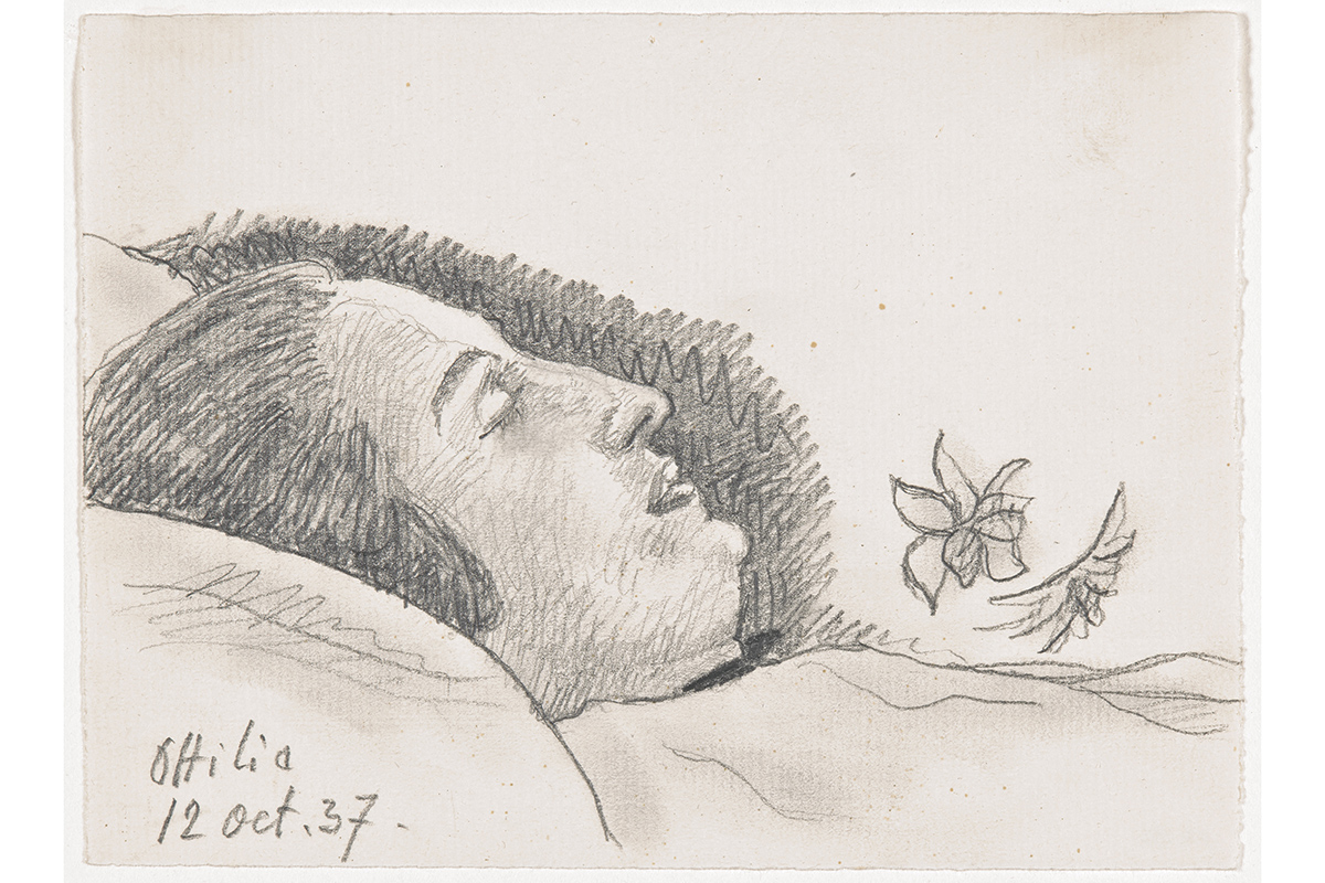 Alberto Giacometti – Ottilia sur son lit de mort