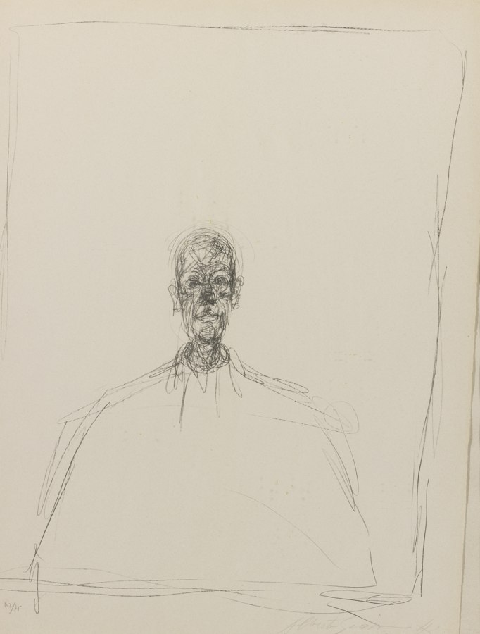 Alberto Giacometti-Buste D'Homme-