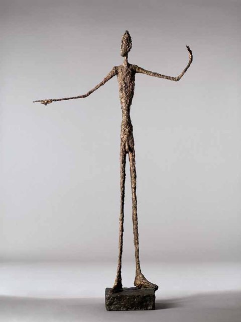 Alberto Giacometti-L'homme au doigt (Pointing Man)-1947