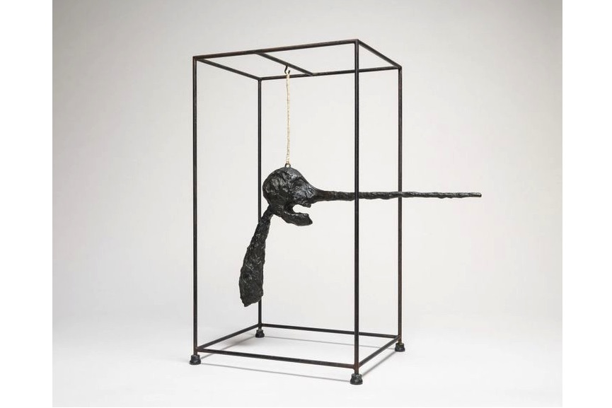 Alberto Giacometti - Nose, 1947; sculpture on view in 2018