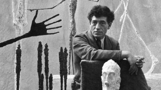 Alberto Giacometti - Photo of the artist in his studio - Image via dailyartfixx paris jean annette biography