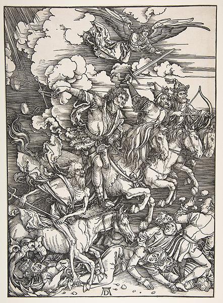 Albrecht Dürer - The Four Horsemen, from The Apocalypse, 1498