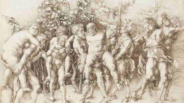 Albrecht Durer - Bacchanal with Silenus