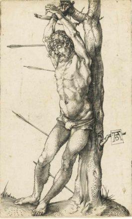 Albrecht Durer-Saint Sebastian Bound To The Tree-1501