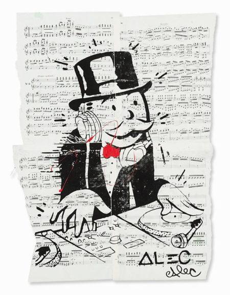 Alec Monopoly-Monopoly Man as a DJ, US-2000