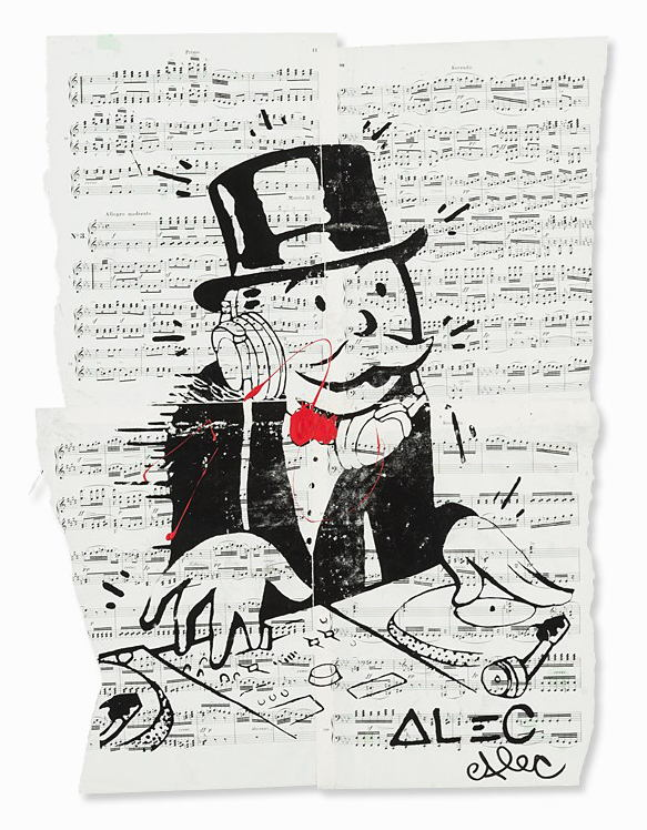 Alec Monopoly-Monopoly Man as a DJ, US-2000