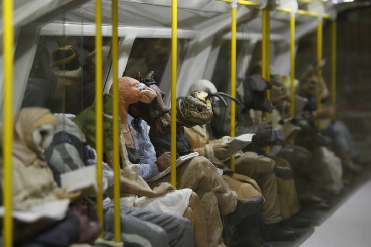 Alessandro Gallo - Metro, (London Underground's Northern Line) 2011 (detail)