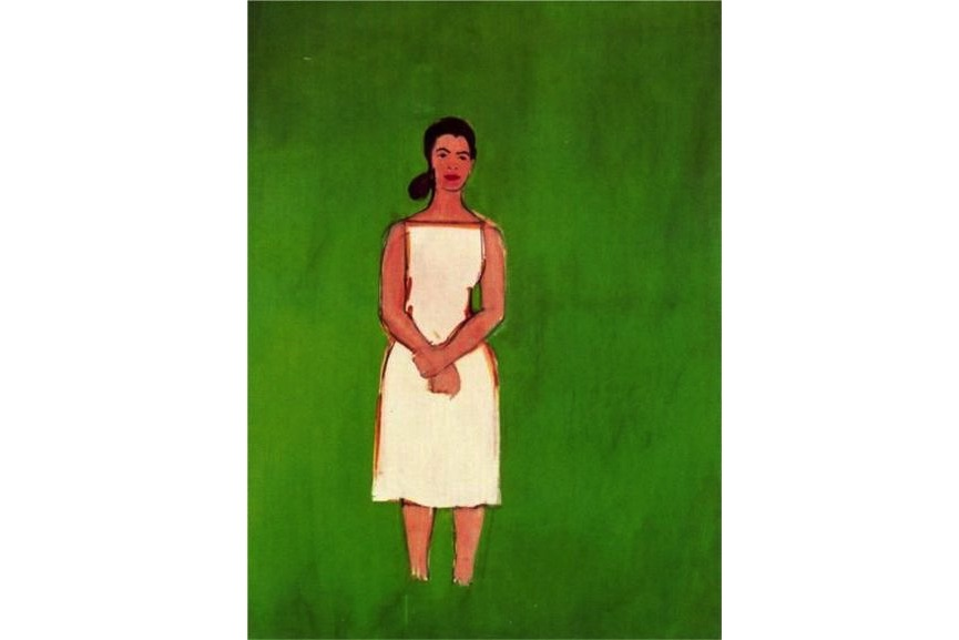 Alex Katz, Ada With White Dress, 1958