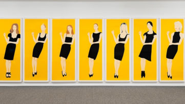 alex katz signed his new paper print. on view in 2016