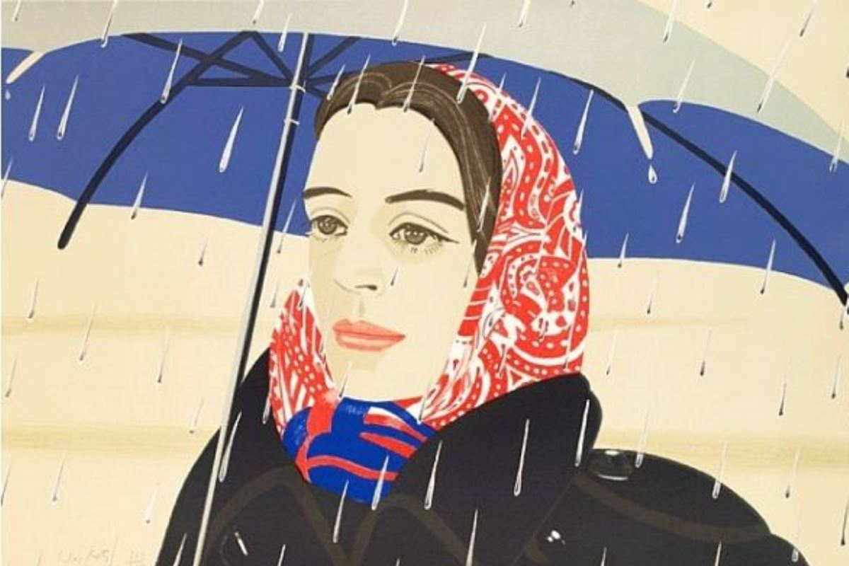 Alex Katz - Blue Umbrella 2