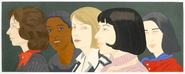 Alex Katz-Five Women-1977