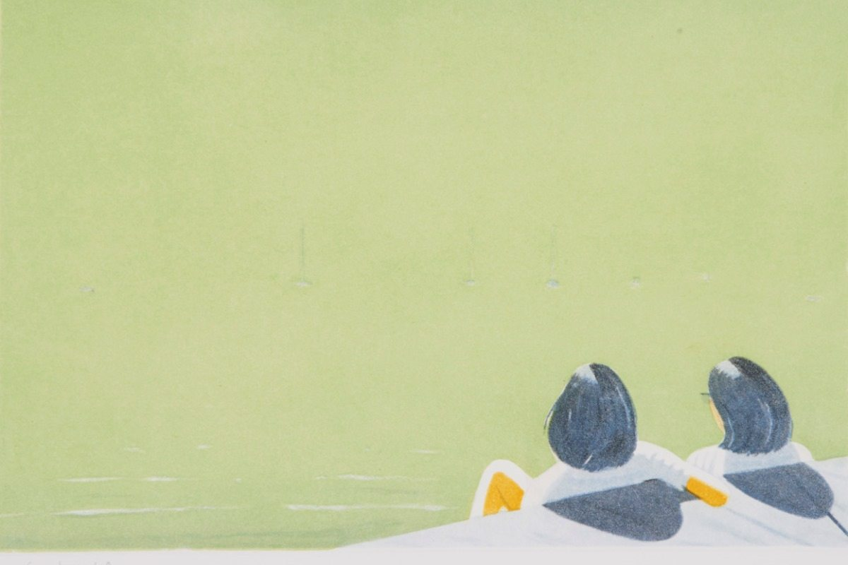 Alex Katz - Harbor 3, detail