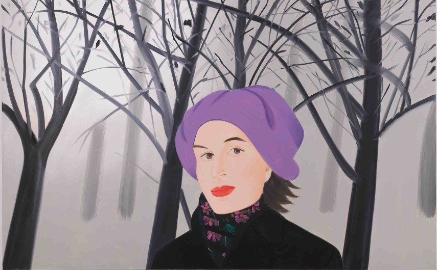 Alex Katz - January IV contact (detail), 1992 - Image via artobservedcom