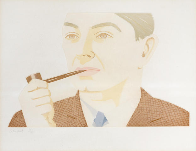 Alex Katz-Man with a Pipe-1984