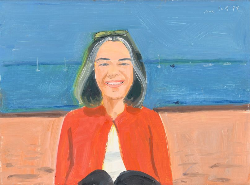 Alex Katz, Red Sweater, 1999
