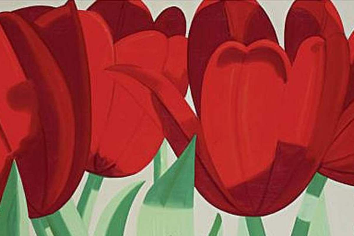 Alex Katz - Red Tulips, detail