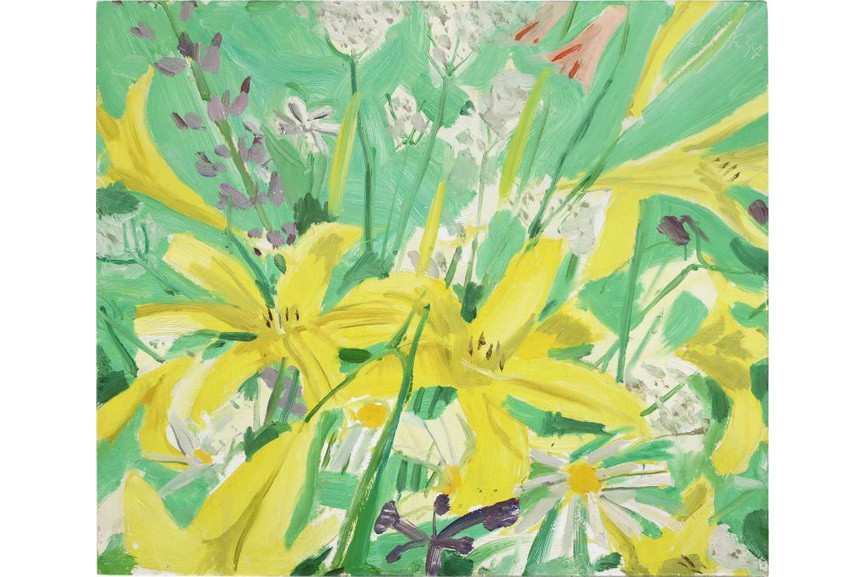 Alex Katz - Study for Ada with Flowers