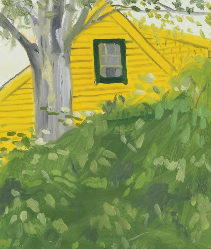 Alex Katz-Yellow House-1982