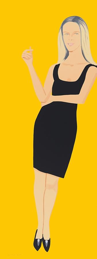 Alex Katz-Yvonne, from Black Dress Series-2015