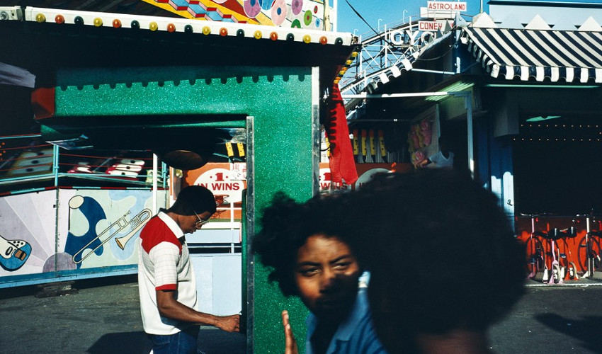 Alex Webb - Coney Island, New York, 1983 (detail), photo in various books