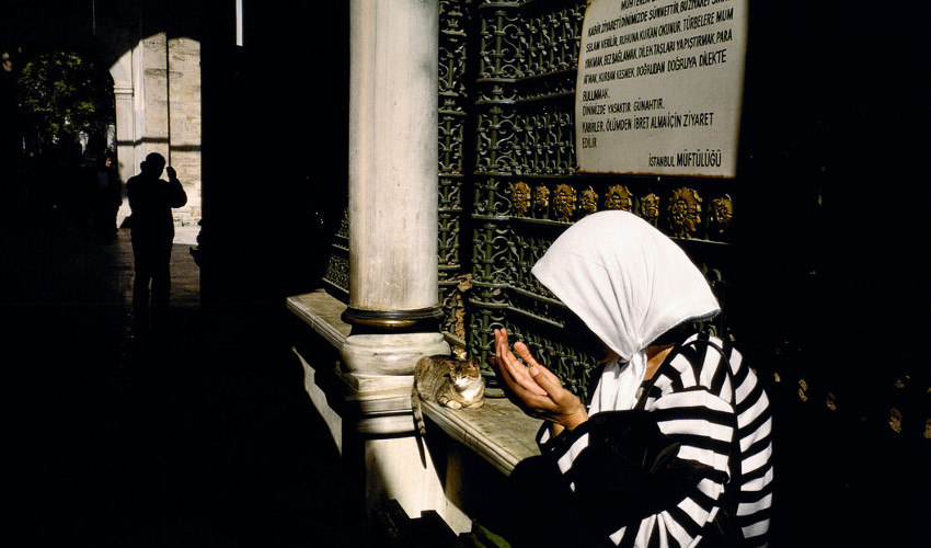 Alex Webb - Istanbul, Turkey. Outside the Eyup Mosque, 2001 (detail), new photos