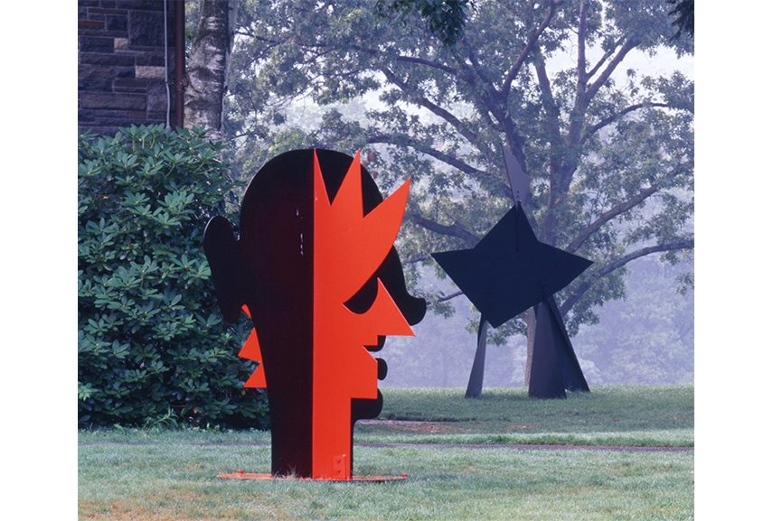 Alexander Calder works helped redefine American modern sculpture. His abstract mobiles are one of the first American abstract kinetic artworks.