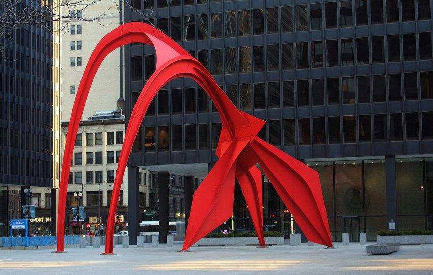 Alexander Calder - Flamingo, 1974, Federal Plaza, Chicago, IL, mobiles terms