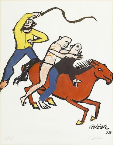 Alexander Calder-Flight from Tyranny: For Amnesty International-1975