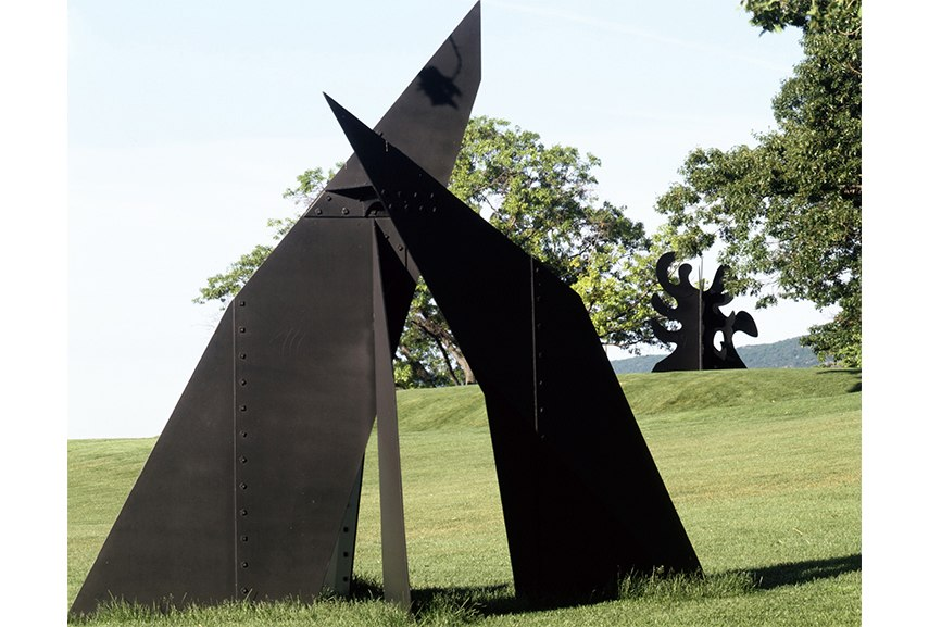 Alexander Calder works and mobiles - painting is also associated with Calder, but sculpture is what his work is about. Duchamp played an important role in the development of modern sculpture as well, using wire and other unusual materials.