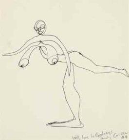 Alexander Calder-Nude Balancing on One Foot-1944