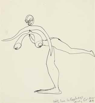 Alexander Calder-Nude Balancing on One Foot-1944