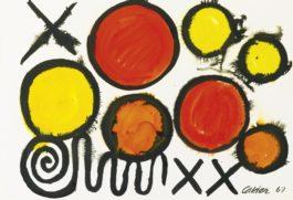 Alexander Calder-Orbs And Crosses-1967