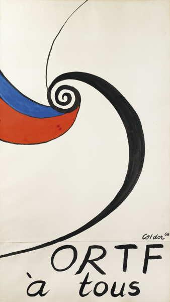 Alexander Calder-Projet Pour Ortf A Tous-1968
