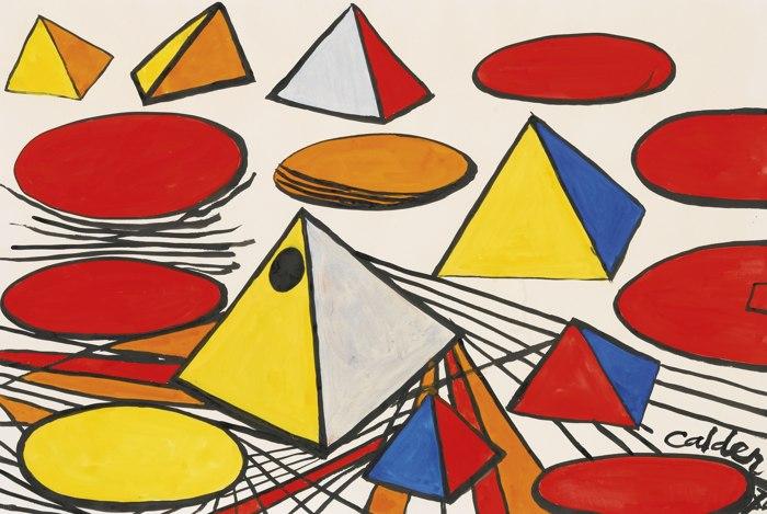 Alexander Calder-Pyramids And Discs-1974